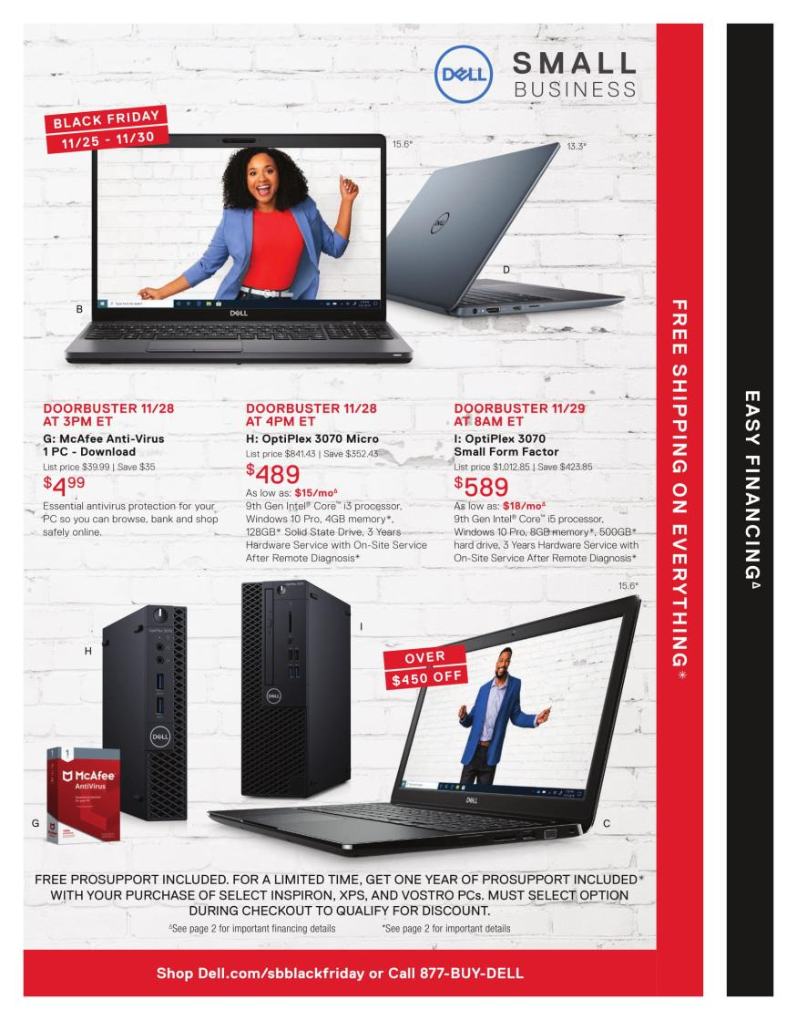 Dell Business Black Friday page 3